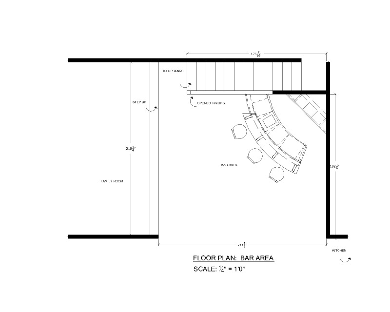 corner bar plans